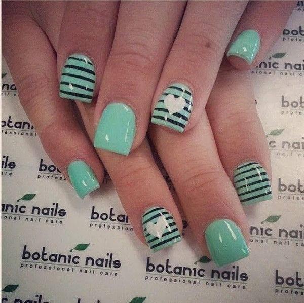 62 green nail art designs - 100+ Awesome Green Nail Art Designs