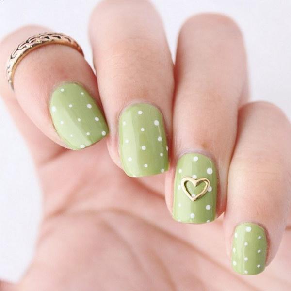 7 green nail art designs - 100+ Awesome Green Nail Art Designs
