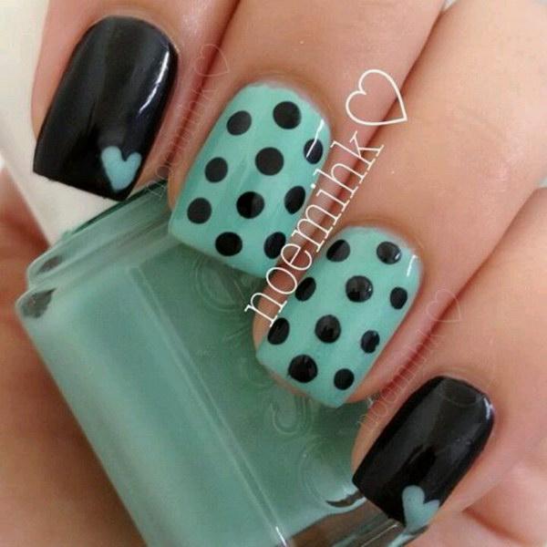 71 green nail art designs - 100+ Awesome Green Nail Art Designs