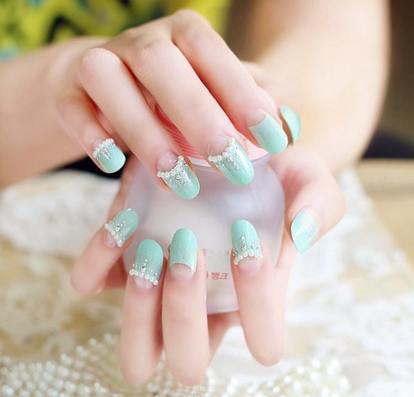 79 green nail art designs - 100+ Awesome Green Nail Art Designs