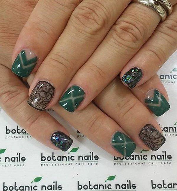 80 green nail art designs - 100+ Awesome Green Nail Art Designs
