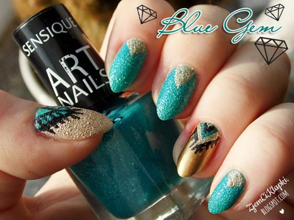 83 green nail art designs - 100+ Awesome Green Nail Art Designs