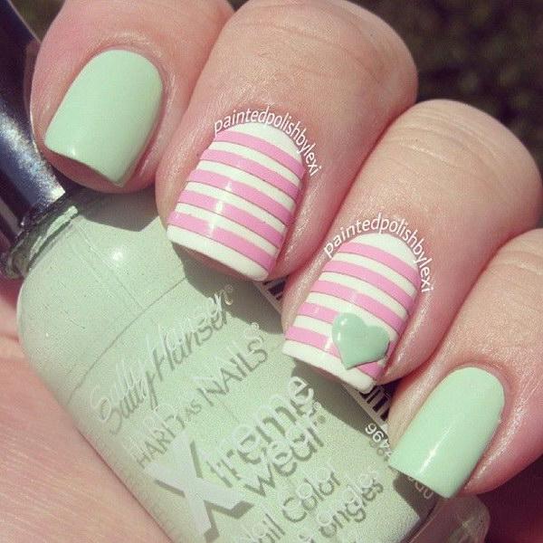 86 green nail art designs - 100+ Awesome Green Nail Art Designs