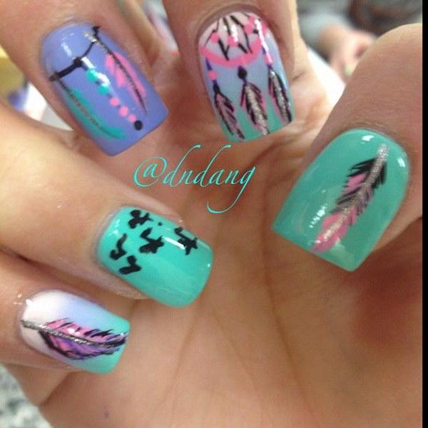 92 green nail art designs - 100+ Awesome Green Nail Art Designs