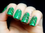 awesome green nail art design