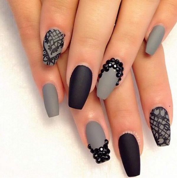 25 matte nail designs - 60 Pretty Matte Nail Designs