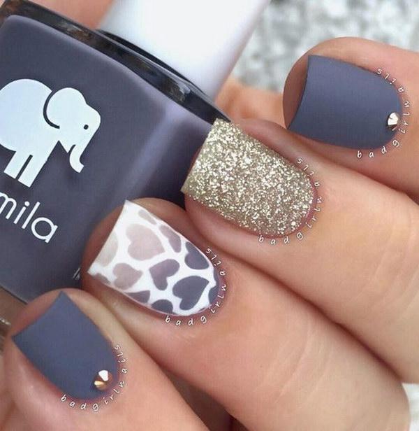 27 matte nail designs - 60 Pretty Matte Nail Designs