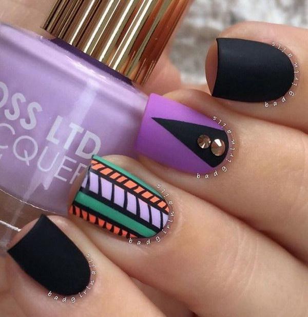 37 matte nail designs - 60 Pretty Matte Nail Designs