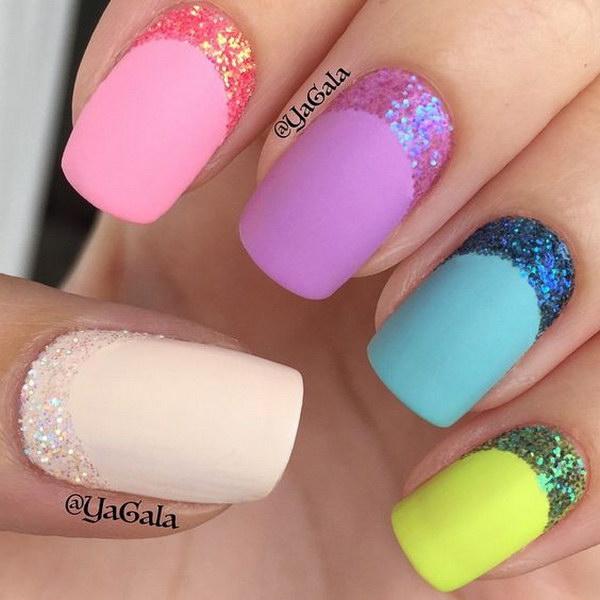 45 matte nail designs - 60 Pretty Matte Nail Designs