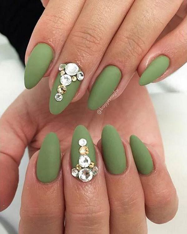 55 matte nail designs - 60 Pretty Matte Nail Designs