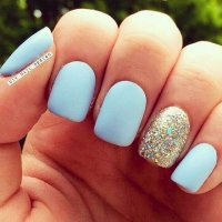 The gallery for --> Baby Blue And Black Nail Designs