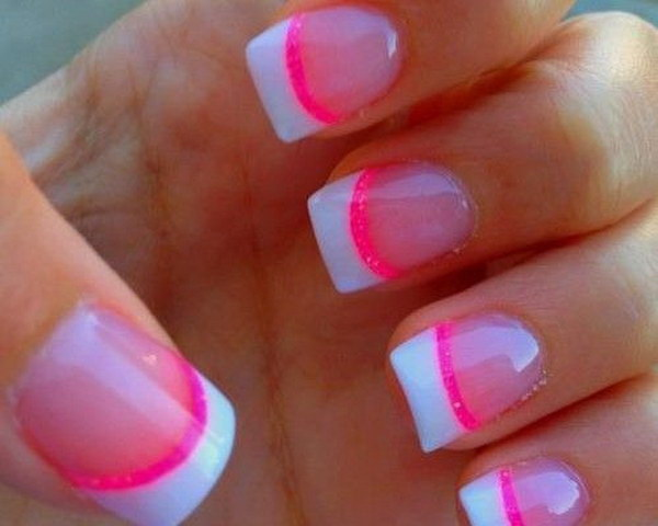 29 pink and white nail art designs - 50 Lovely Pink and White Nail Art Designs