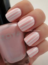 50 Lovely Pink and White Nail Art Designs