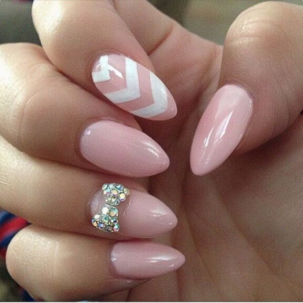 35 pink and white nail art designs - 50 Lovely Pink and White Nail Art Designs