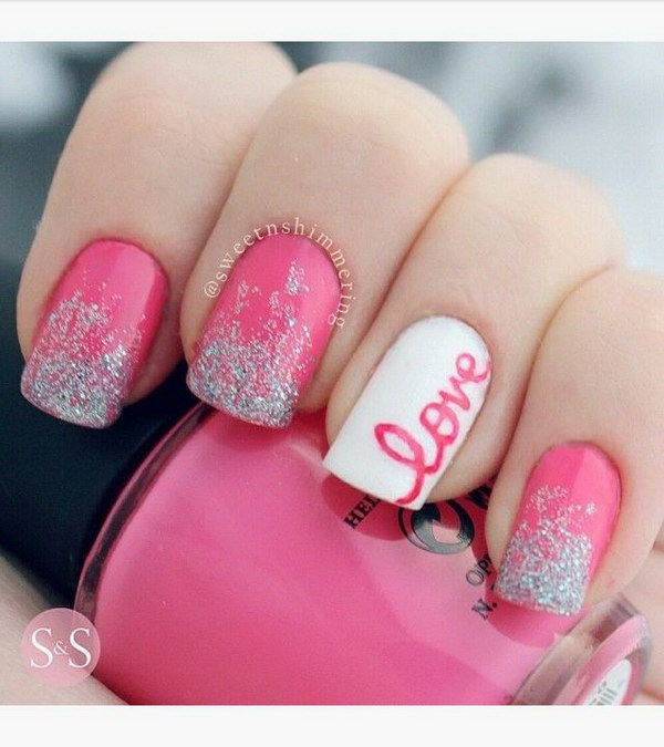 Cute Valentines Day Toe Nail Art Designs Ideas