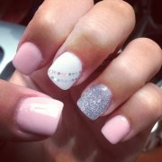 lovely pink and white nail art