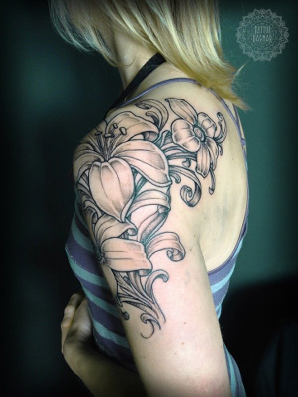 cool and pretty sleeve tattoo