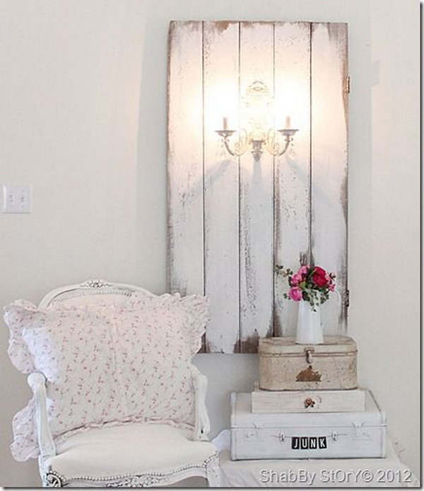 diy shabby chic living room ideas oil painting for romantic project tutorials 2017 barn door sconce tutorial