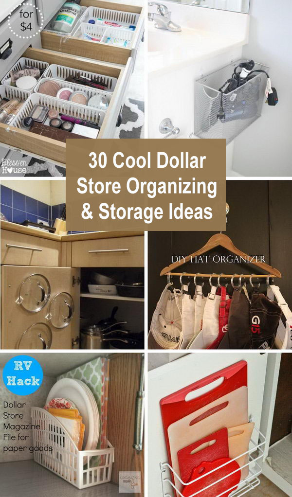 dollar store organizing ideas 1 - Cool Dollar Store Organizing & Storage Ideas