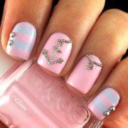 cool anchor nail art design