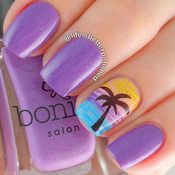 18 beach nail art - 30+ Beach Themed Nail Art Designs
