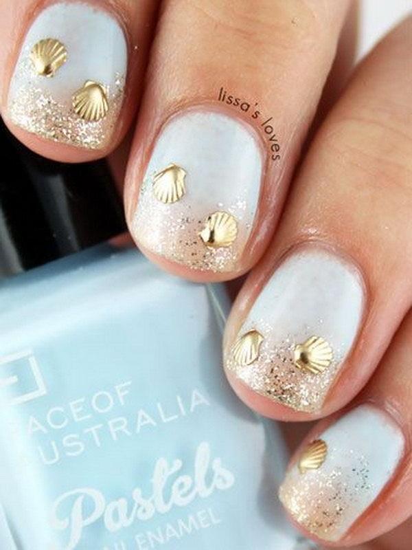 2 beach nail art - 30+ Beach Themed Nail Art Designs