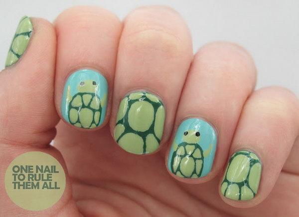 20 beach nail art - 30+ Beach Themed Nail Art Designs