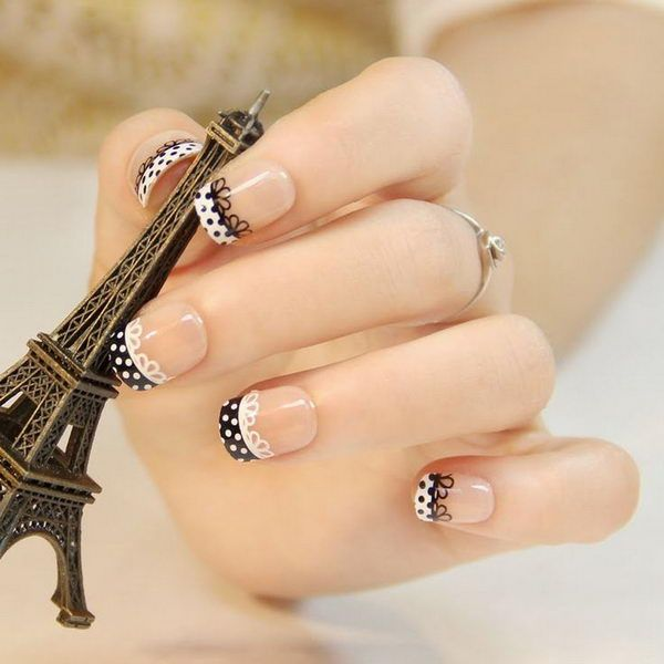 19 black and white nail art - Black and White Nail Art Designs – Perfect Match For Any Parties