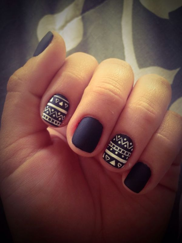 36 black and white nail art - Black and White Nail Art Designs – Perfect Match For Any Parties