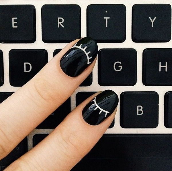 4 black and white nail art - Black and White Nail Art Designs – Perfect Match For Any Parties
