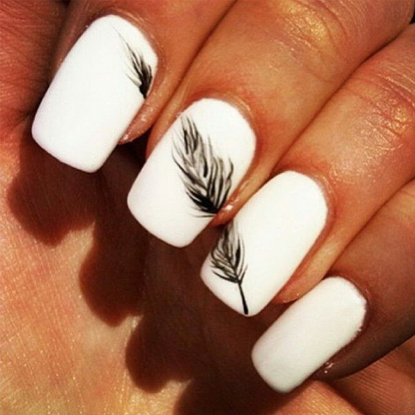 9 black and white nail art - Black and White Nail Art Designs – Perfect Match For Any Parties