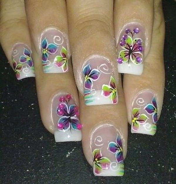 18 butterfly nail art designs - 30+ Pretty Butterfly Nail Art Designs