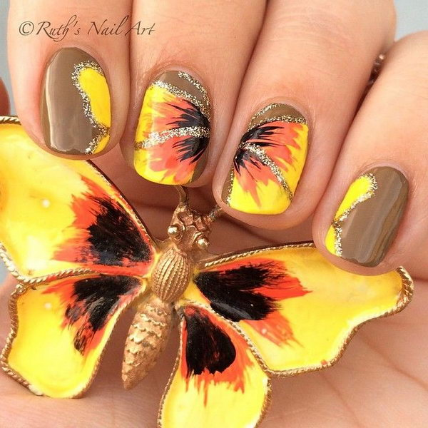22 butterfly nail art designs - 30+ Pretty Butterfly Nail Art Designs