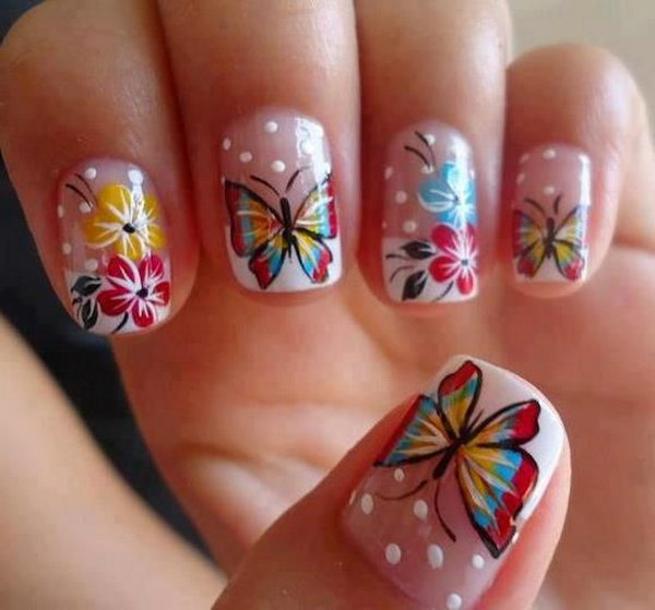 3 butterfly nail art designs - 30+ Pretty Butterfly Nail Art Designs