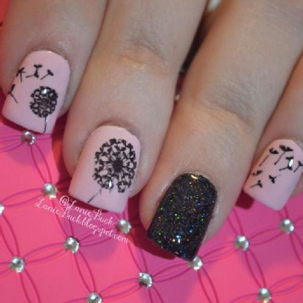 15 dandelion nail art - 40+ Cute Dandelion Nail Art Designs And Tutorials – Make a Dandelion Wish