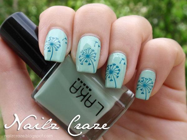 34 dandelion nail art - 40+ Cute Dandelion Nail Art Designs And Tutorials – Make a Dandelion Wish