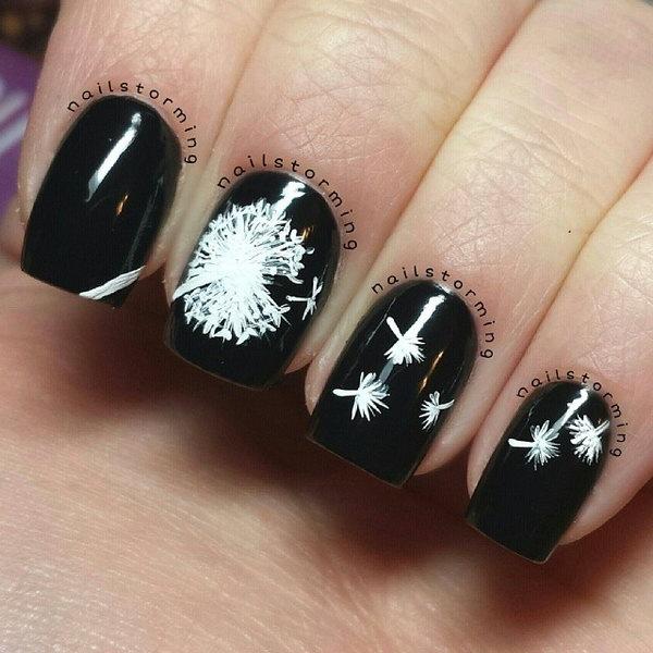 42 dandelion nail art - 40+ Cute Dandelion Nail Art Designs And Tutorials – Make a Dandelion Wish