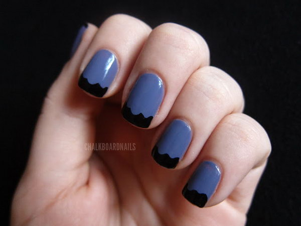22 french tip nail designs - 60 Fashionable French Nail Art Designs And Tutorials