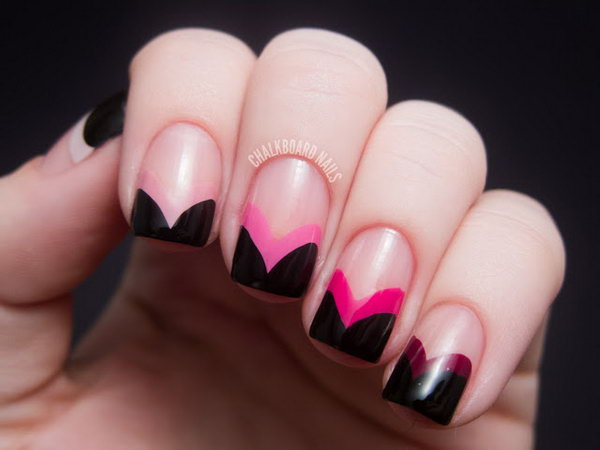 24 french tip nail designs - 60 Fashionable French Nail Art Designs And Tutorials