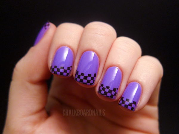 31 french tip nail designs - 60 Fashionable French Nail Art Designs And Tutorials