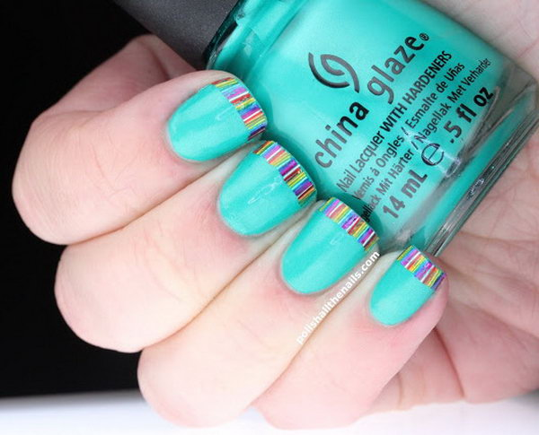 4 french tip nail designs - 60 Fashionable French Nail Art Designs And Tutorials
