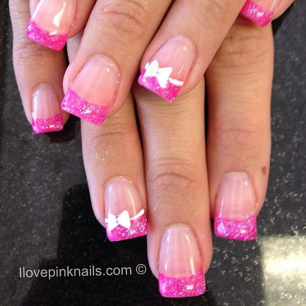51 french tip nail designs - 60 Fashionable French Nail Art Designs And Tutorials