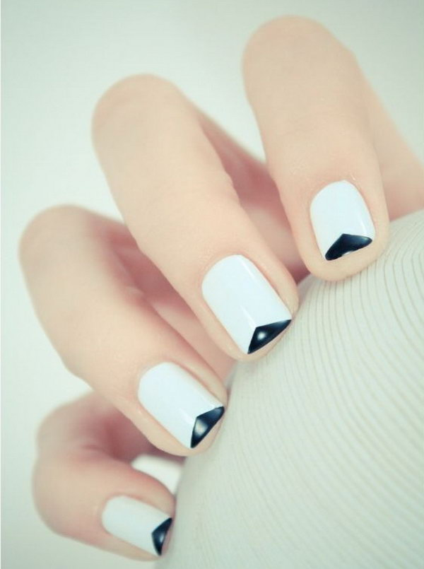 52 french tip nail designs - 60 Fashionable French Nail Art Designs And Tutorials