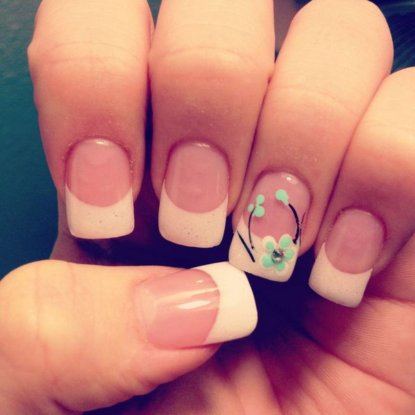 55 french tip nail designs - 60 Fashionable French Nail Art Designs And Tutorials