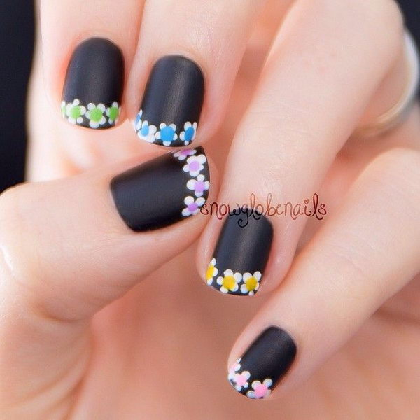 6 french tip nail designs - 60 Fashionable French Nail Art Designs And Tutorials