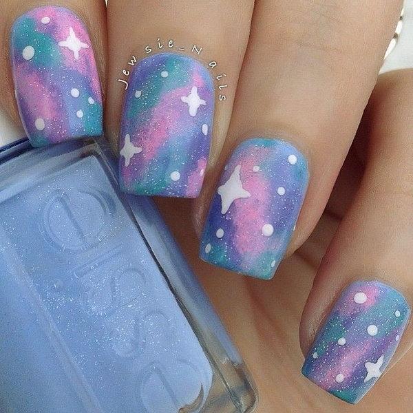 18 galaxy nail art - 50 Gorgeous Galaxy Nail Art Designs and Tutorials