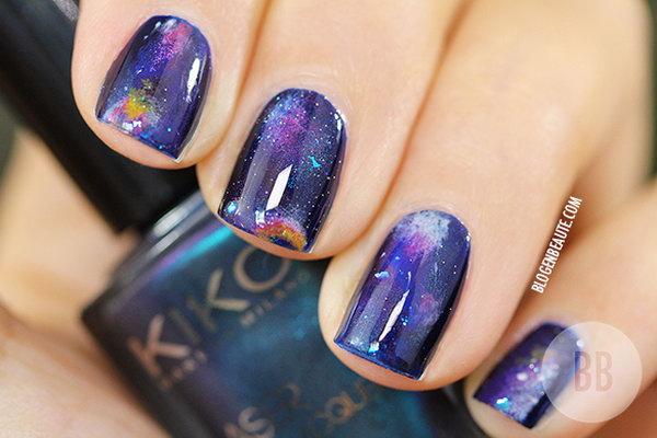 19 galaxy nail art - 50 Gorgeous Galaxy Nail Art Designs and Tutorials