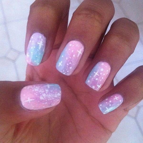 31 galaxy nail art - 50 Gorgeous Galaxy Nail Art Designs and Tutorials