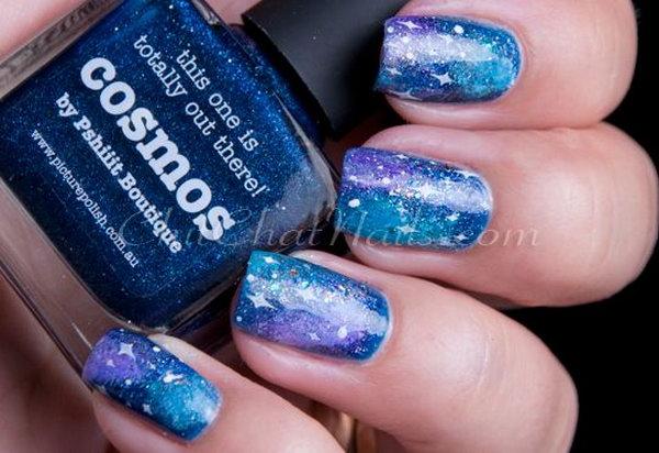 34 galaxy nail art - 50 Gorgeous Galaxy Nail Art Designs and Tutorials