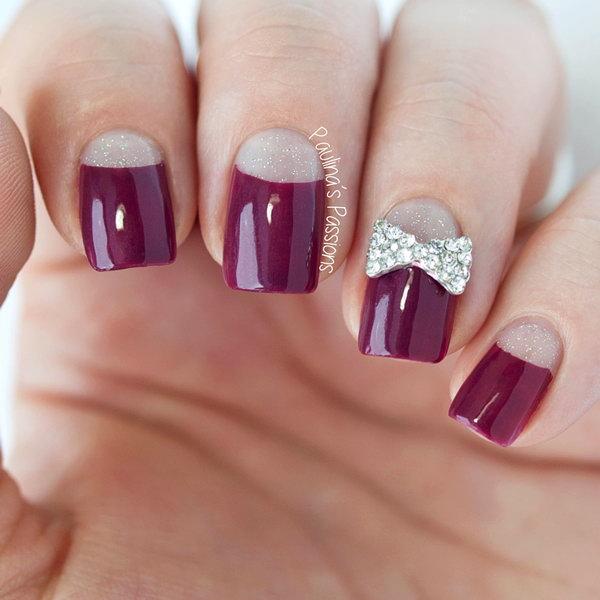11 half moon nail art - 60+ Stunning Half Moon Nail Art Designs & Tutorials